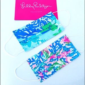 Lilly Pulitzer Face masks—set of 2